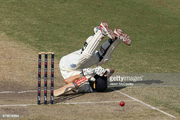 Ed Cowan of NSW bats during day four of the Sheffield Shield match between New South Wales and Victoria at North Sydney Oval on November 27 2017 in...