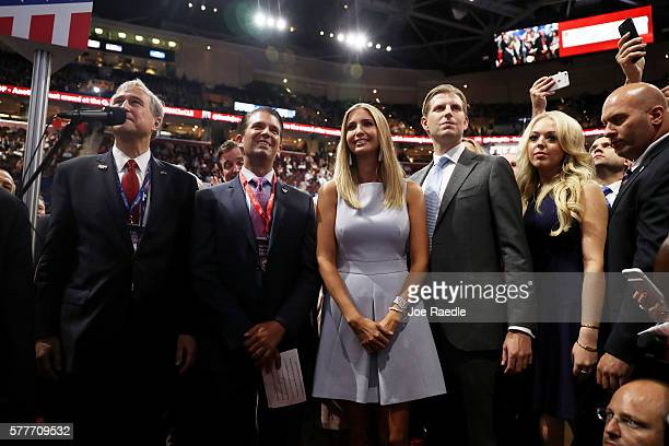 Ed Cox NY Republican party chairman announce they pass during roll call along with Donald Trump Jr Ivanka Trump Eric Trump and Tiffany Trump on the...