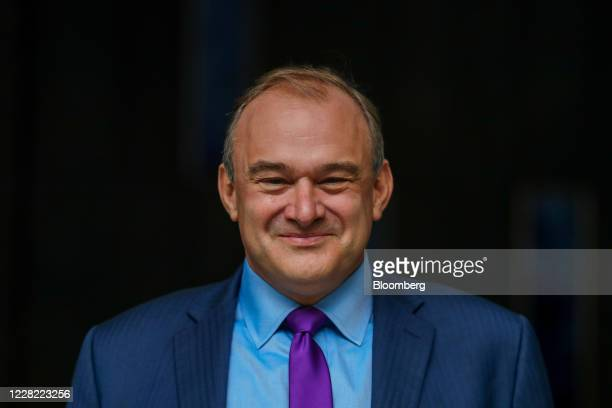 Ed Davey, leader of the Liberal Democrats, reacts following a news conference announcing his election as the new leader of the opposition party in...