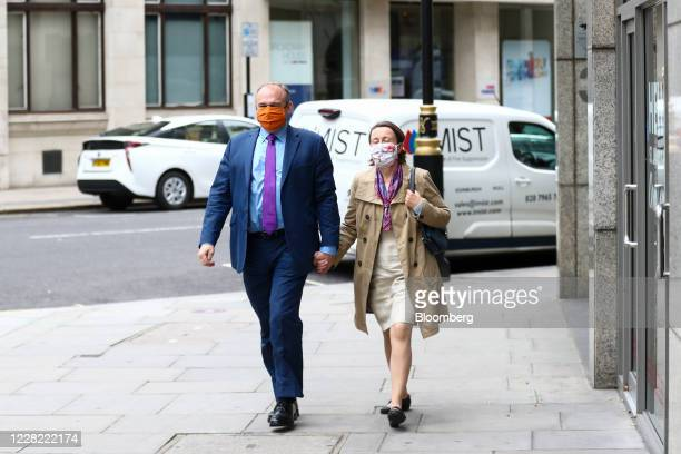 Ed Davey, leadership candidate for the Liberal Democrats, arrives ahead of a news conference to announce the new leader of the opposition party in...