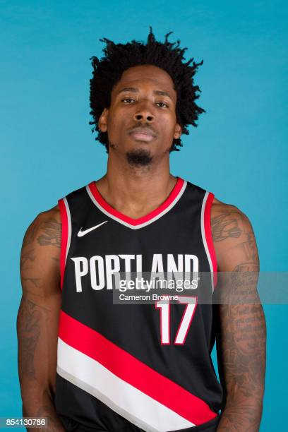 Ed Davis of the Portland Trail Blazers poses for a head shot during media day on September 25 2017 at the Moda Center Arena in Portland Oregon NOTE...