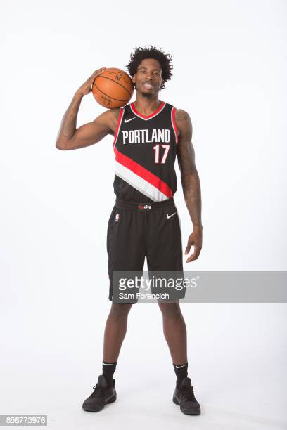 Ed Davis of the Portland Trail Blazers poses for a portrait during the 201718 NBA Media Day on September 25 2015 at the Moda Center in Portland...