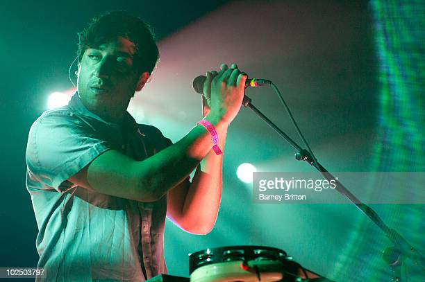 Ed Droste of Grizzly Bear performs as part of the Serpentine Summer Sessions at Hyde Park on June 28 2010 in London England