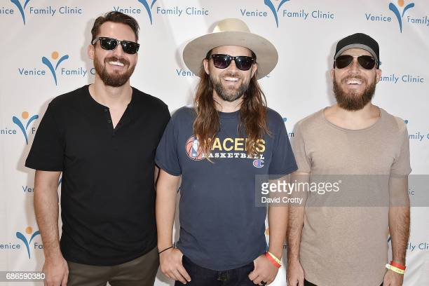 Ed Eyre Chad Wolf and McKay Stevens attend the Venice Family Clinic's Art Walk Auctions 2017 on May 21 2017 in Venice California