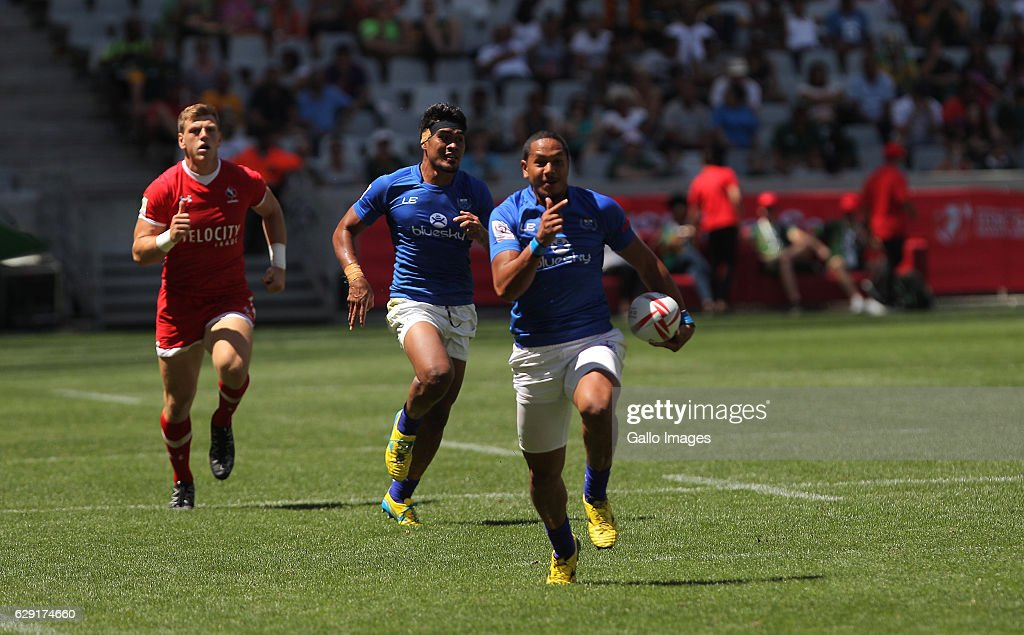 Ed Fidow of Samoa during the match between Samoa and Canada during day 2 of the HSBC Cape Town Sevens at Cape Town Stadium on December 11, 2016 in Cape Town, South Africa.