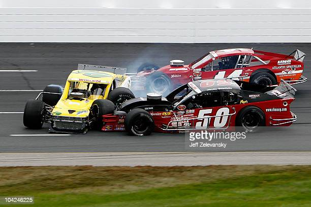 Ed Flemke Jr driver of the Ron Bouchard's Autos/Kleer Lumber Chevrolet Jimmy Blewett driver of the Diversified Metals/RB Enterprises Pontiac and...