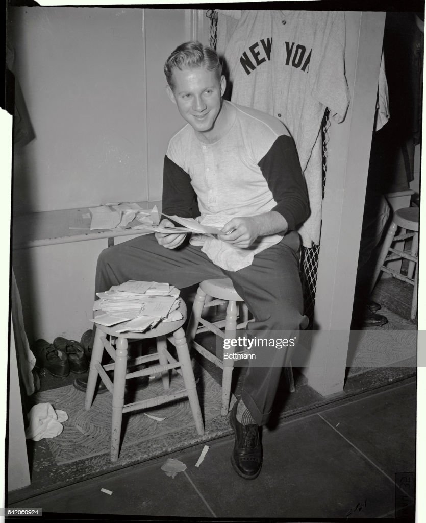 Ed Ford Holding his Fan Mail : News Photo