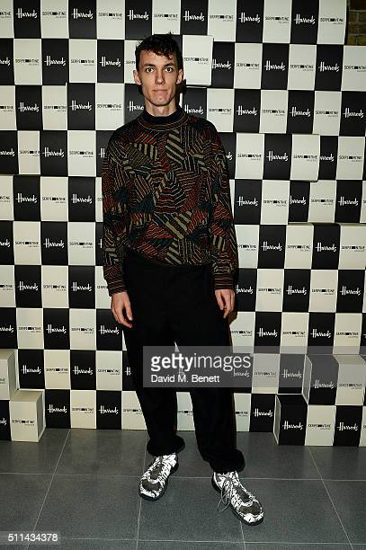 Ed Fornieles attends the Serpentine Future Contemporaries x Harrods Party 2016 at The Serpentine Sackler Gallery on February 20 2016 in London England