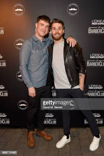 Ed Gamble and Joel Dommett attend the L'Oreal Paris Men Expert and Movember Charity Partnership event at The Bike Shed on October 31 2017 in London...