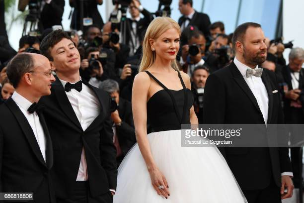 Ed Guiney Barry Keoghna Nicole Kidman and Yorgos Lanthimos attend the The Killing Of A Sacred Deer screening during the 70th annual Cannes Film...