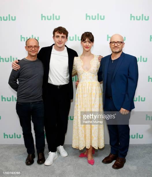 Ed Guiney Paul Mescal Daisy EdgarJones and Lenny Abrahamson attend the Hulu Panel at Winter TCA 2020 at The Langham Huntington Pasadena on January 17...