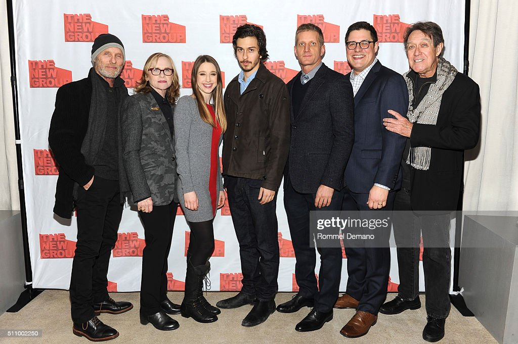 Ed Harris, Amy Madigan, Taissa Famiga, Nat Wolff, Paul Sparks, Rich Sommer and Larry Pine attend 'Buried Child' opening night at KTCHN Restaurant on February 17, 2016 in New York City.