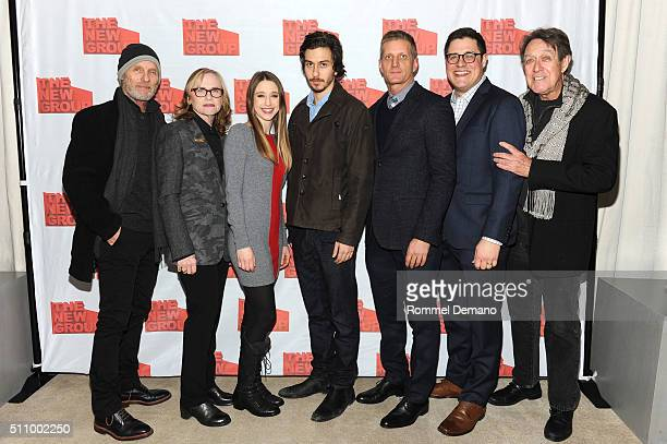 Ed Harris Amy Madigan Taissa Famiga Nat Wolff Paul Sparks Rich Sommer and Larry Pine attend Buried Child opening night at KTCHN Restaurant on...