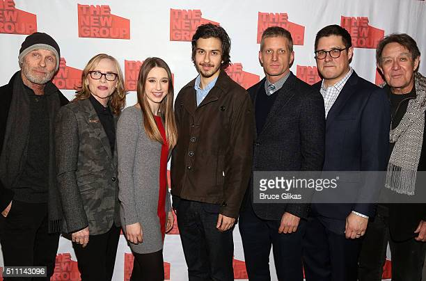 Ed Harris Amy Madigan Taissa Farmiga Nat Wolff Paul Sparks Rich Sommer and Larry Pine pose at The Opening Night After Party for Sam Shepard's Buried...
