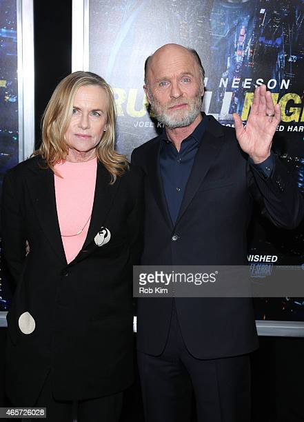Ed Harris and Amy Madigan attend Run All Night New York premiere at AMC Lincoln Square Theater on March 9 2015 in New York City