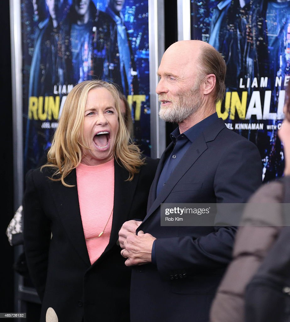 Ed Harris and Amy Madigan attend 'Run All Night' New York premiere at AMC Lincoln Square Theater on March 9, 2015 in New York City.