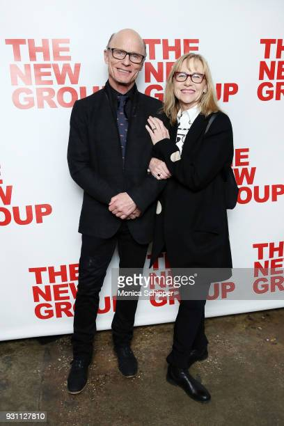 Ed Harris and Amy Madigan attend The New Group 2018 Gala at Tribeca Rooftop on March 12 2018 in New York City