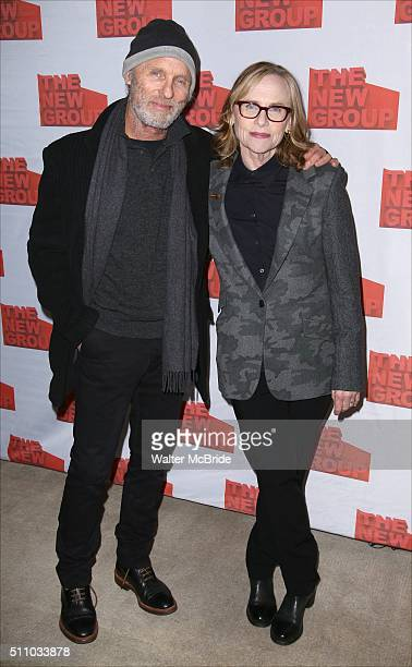 Ed Harris and Amy Madigan attend The New Group's Official Opening Night Party for Sam Shepard's 'Buried Child' at Kitchn on February 17 2016 in New...