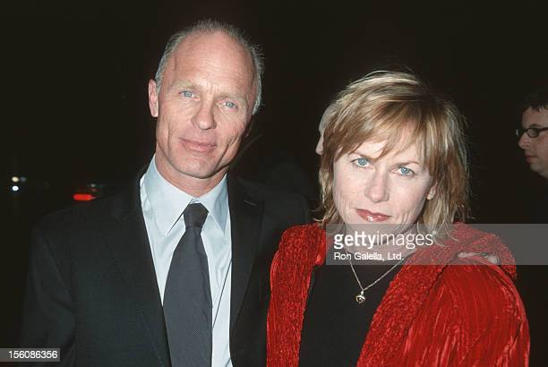 Ed Harris and Amy Madigan during 'A Beautiful Mind' Premiere at AMPAS Theatre in Beverly Hills California United States