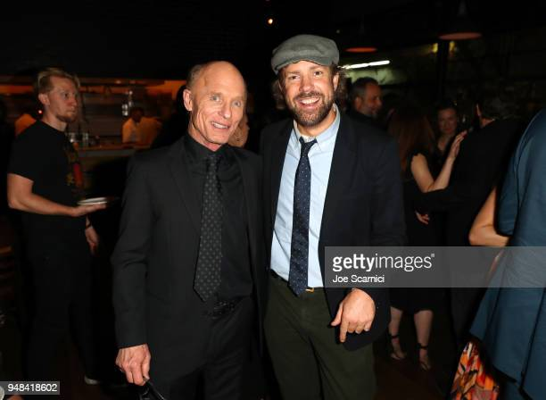 Ed Harris and Jason Sudeikis attend Los Angeles special screening of Netflix's film 'KODACHROME' on April 18 2018 in Hollywood California