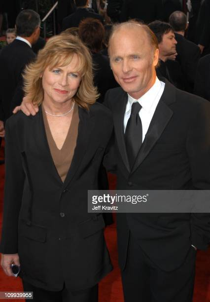 Ed Harris and wife Amy Madigan during The 60th Annual Golden Globe Awards Arrivals at Beverly Hilton Hotel in Beverly Hills CA United States