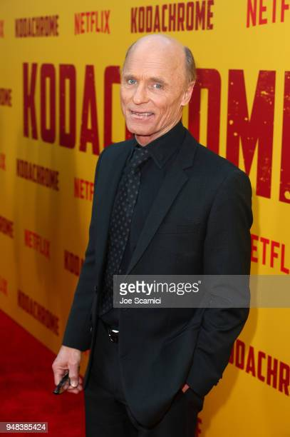 Ed Harris attends Los Angeles special screening of Netflix's film 'KODACHROME' on April 18 2018 in Hollywood California