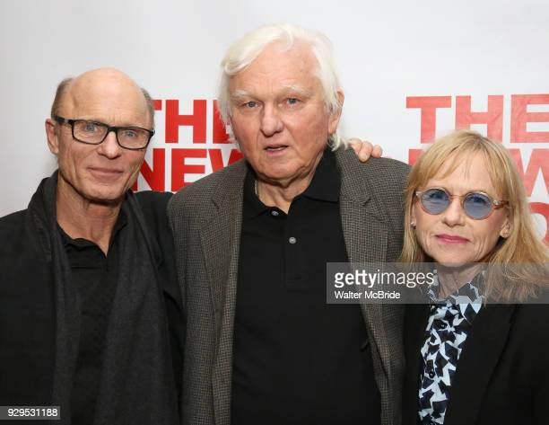 Ed Harris David Rabe and Amy Madigan attends The New Group presents the New York Premiere Opening Night of David Rabe's for Good for Otto on March 8...