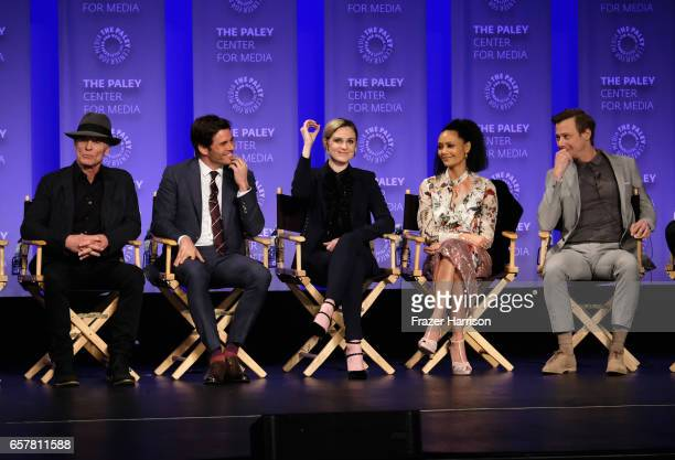 Ed Harris James Marsden Evan Rachel Wood thandie Newton Jimmi Simpsonattend Westworld screnning and panel at The Paley Center For Media's 34th Annual...