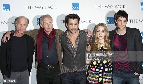 Ed Harris Peter Weir Colin Farrell Saoirse Ronan And Jim Sturgess Attend A Photocall At Claridges Hotel In London For The New Film The Way Back