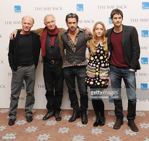 Ed Harris Peter Weir Colin Farrell Saoirse Ronan and Jim Sturgess attend the premiere of The Way Back at Curzon Mayfair