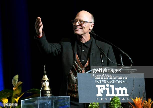 Ed Harris speaks onstage at the American Riviera Award Honoring Viggo Mortensen during the 34th Santa Barbara International Film Festival at Lobero...