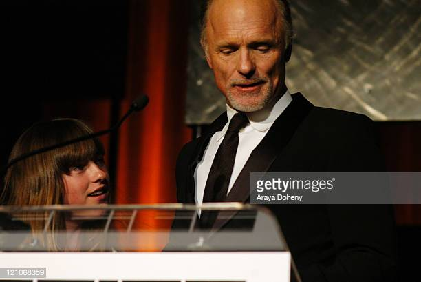 Ed Harris with daughter Lily during 49th San Francisco International Film Festival Awards Night at Westin St Francis Hotel in San Francisco CA United...