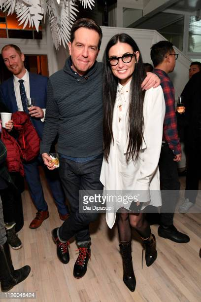 Ed Helms and Demi Moore at the Corporate Animals party at DIRECTV Lodge presented by ATT at the Sundance Film Festival 2019 on January 29 2019 in...
