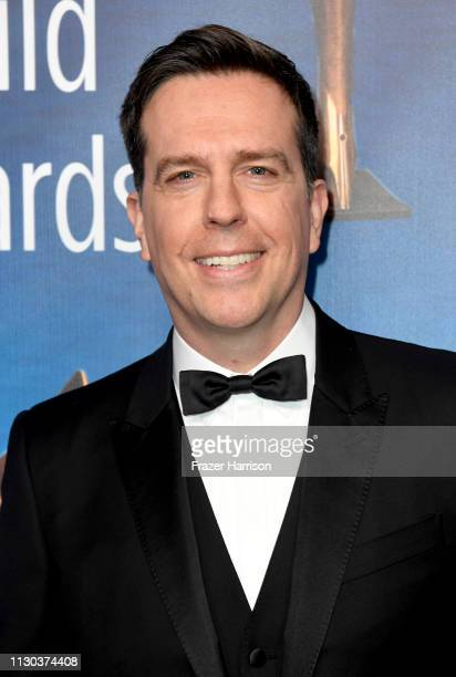 Ed Helms attends the 2019 Writers Guild Awards LA Ceremony at The Beverly Hilton Hotel on February 17 2019 in Beverly Hills California