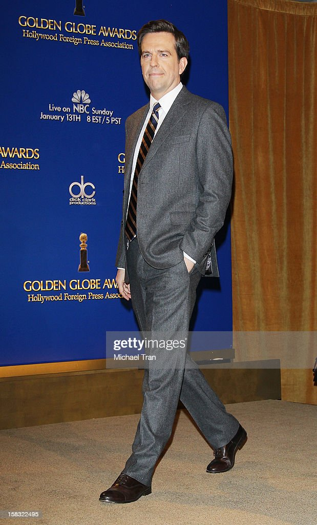 Ed Helms attends the 70th Annual Golden Globe Awards nominations announcement held at The Beverly Hilton on December 13, 2012 in Los Angeles, California.