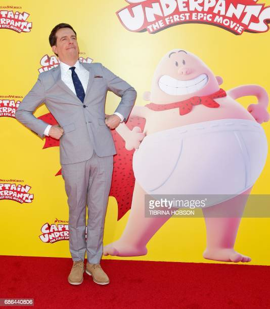 Ed Helms attends the premiere of 20th Century Fox's 'Captain Underpants The First Epic Movie' at the Regency Village Theatre in Los Angeles...