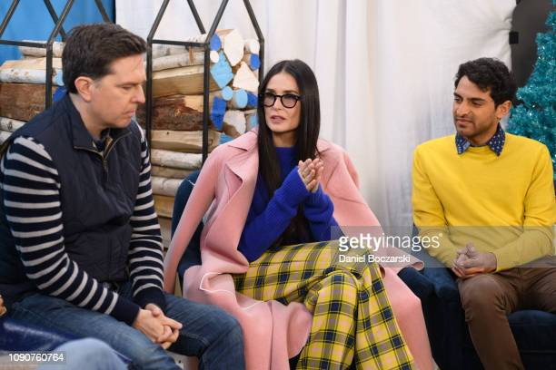 Ed Helms Demi Moore and Karan Soni attend The Vulture Spot during Sundance Film Festival on January 28 2019 in Park City Utah