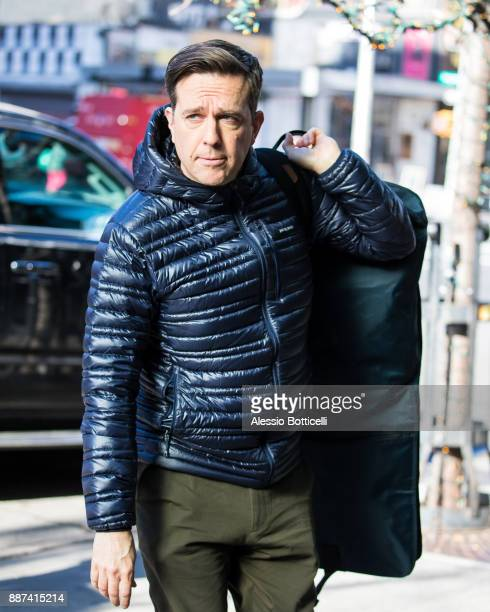 Ed Helms is seen arriving at his hotel on December 6 2017 in New York New York
