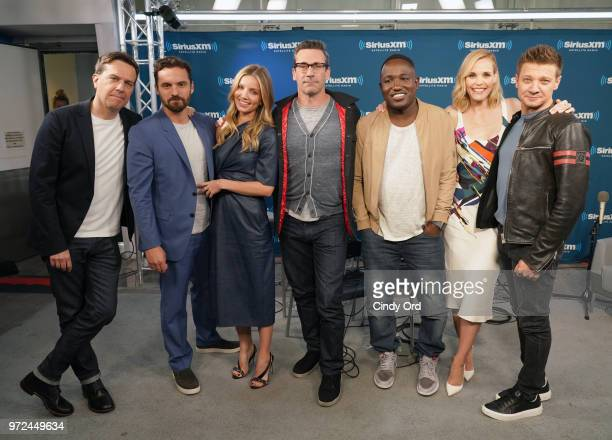 Ed Helms Jake Johnson Annabelle Wallis Jon Hamm Hannibal Buress Leslie Bibb and Jeremy Renner take part in SiriusXM's Town Hall with the cast of...
