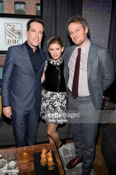 Ed Helms Kate Mara and Jason Clarke attend the RBC hosted Chappaquiddick cocktail party at RBC House Toronto Film Festival 2017 on September 10 2017...