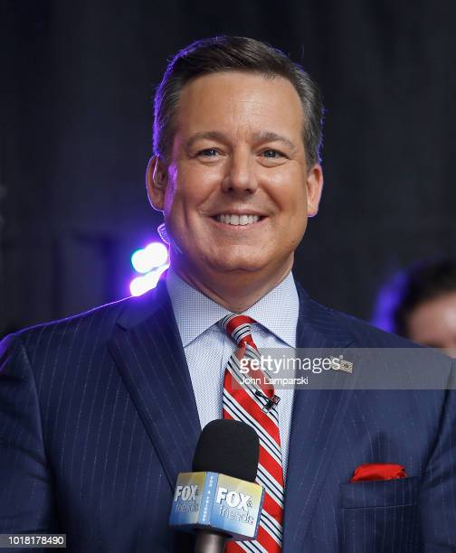 Ed Henry Fox News chief national correspondent attends Fox Friends on August 17 2018 in New York City