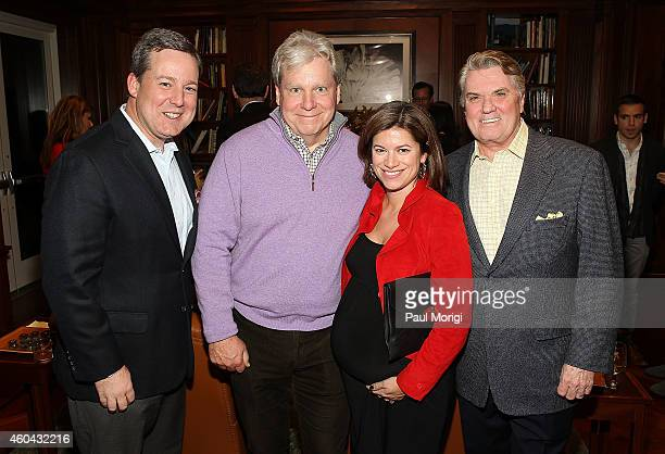 Ed Henry Joe Lockhart Giovanna Gray Lockhart and Jack Quinn pose for a photo at the Capitol File Holiday Issue Celebration with Megan Boone at The...