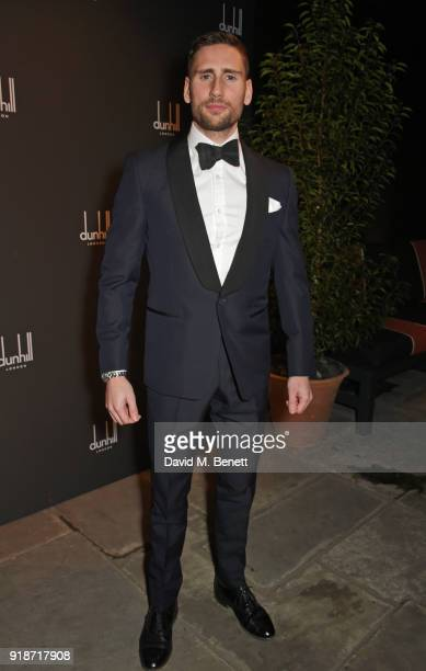 Ed Holcroft attends the Dunhill GQ preBAFTA filmmakers dinner and party cohosted by Andrew Maag Dylan Jones at Bourdon House on February 15 2018 in...