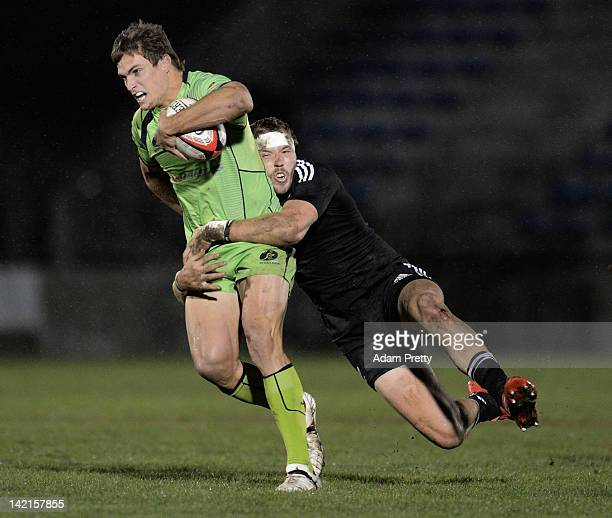 Ed Jenkins of Australia in action during the match between Australia and New Zealand during day one of the Tokyo Sevens at Prince Chichibu Stadium on...