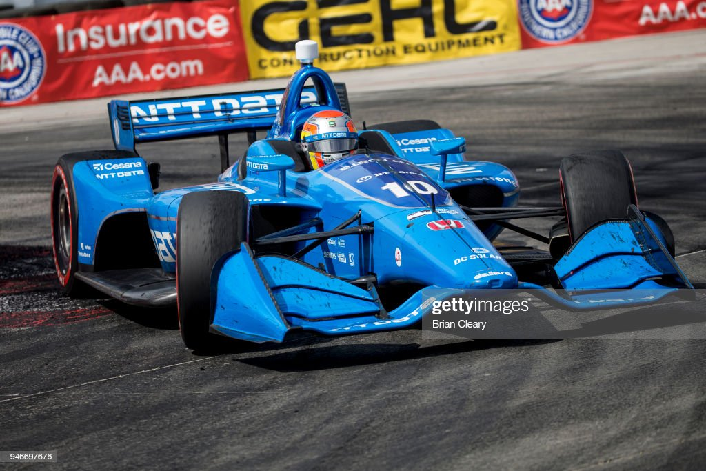Ed Jones, of the United Arab Emerites drives the #10 Honda IndyCar on the track during the Toyota Grand Prix of Long Beach IndyCar race on April 15, 2018 in Long Beach, California.