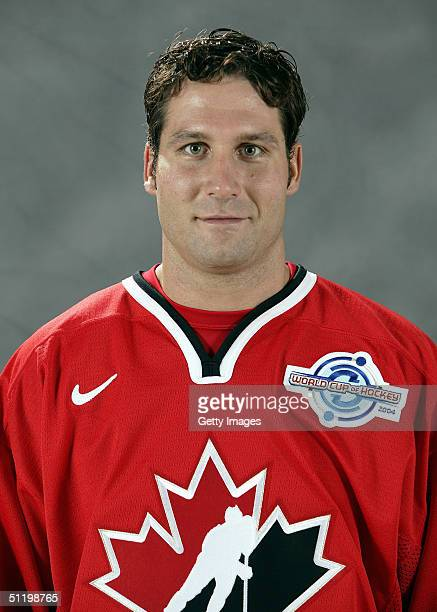 Ed Jovanovski of Team Canada poses for a portrait during camp at the University of Ottawa Ottawa Ontario August 19 2004