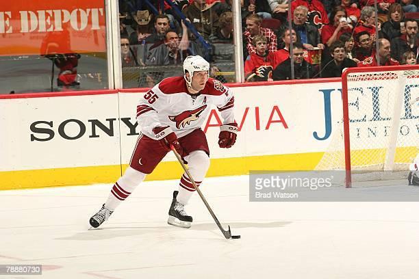 Ed Jovanovski of the Phoenix Coyotes skates against the Calgary Flames on January 8, 2008 at Pengrowth Saddledome in Calgary, Alberta, Canada. The...