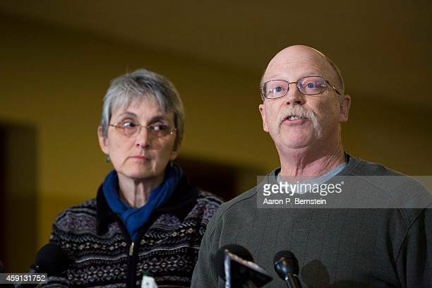 Ed Kassig and Paula Kassig speak to the media about the recent execution of their son Peter Kassig by ISIL forces on November 17 2014 at Epworth...