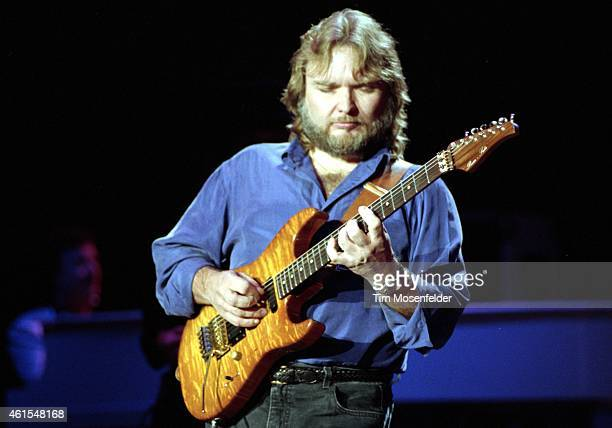 Ed King of Lynyrd Skynyrd performs at Shoreline Amphitheatre on August 31 1991 in Mountain View California