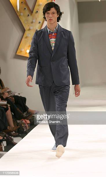 Ed King wearing Peter Jensen Spring/Summer 2006 during London Fashion Week Spring/Summer 2006 Peter Jensen Runway and Backstage at Berkeley Square in...
